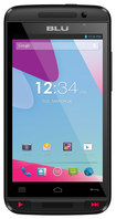 Blu - Dash Music II 4G with 512MB Memory Cell Phone (Unlocked) - Red