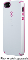 Speck - CandyShell Hard Shell Case for Apple® iPhone® 5 and 5s - Gray/Raspberry