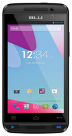 Blu - Dash Music II 4G with 512MB Memory Cell Phone (Unlocked) - Blue