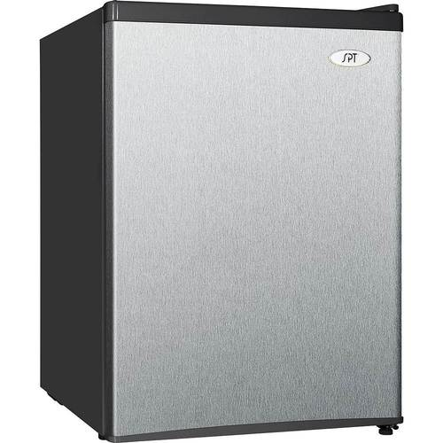 SPT - 2.4 Cu. Ft. Compact Refrigerator - Stainless Steel
