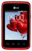 LG - L30 Sporty Dual with 4GB Cell Phone (Unlocked) - Red/Black
