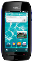 Nokia - 603 with 2GB Memory Cell Phone (Unlocked) - Black/Blue