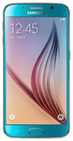 Samsung - Galaxy S6 4G with 64GB Memory Cell Phone (Unlocked) - Blue