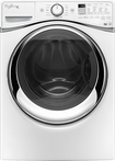 Whirlpool - Duet 4.5 Cu. Ft. 12-Cycle High-Efficiency Steam Front-Loading Washer - White