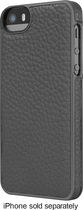 ADOPTED - Leather Wrap Case for Apple® iPhone® 5 and 5s - Pewter/Gunmetal