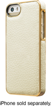 ADOPTED - Leather Wrap Case for Apple® iPhone® 5 and 5s - White/Gold