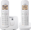 Panasonic - KX-TGC212W DECT 6.0 Expandable Cordless Phone System - White