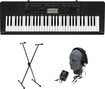 Casio - Portable Keyboard with 61 Touch-Sensitive Keys - Black