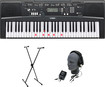 Yamaha - Portable Keyboard with 61 Touch-Sensitive Lighted Keys - Black