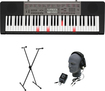 Casio - Portable Keyboard with 61 Standard-Size Lighted Keys - Black