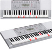 Casio - Portable Keyboard with 61 Full-Size Touch-Sensitive Lighted Piano-Style Keys - Silver