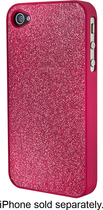 Dynex™ - Glitter Case for Apple® iPhone® 4 and 4S - Pink
