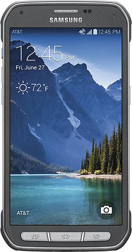 Samsung - Galaxy S 5 Active 4G Cell Phone - Titanium Gray (AT&T)