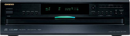 Onkyo - 6-Disc CD Player - Black