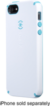 Speck - CandyShell Case for Apple® iPhone® 5 and 5s - White/Peacock Blue