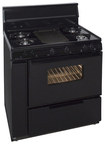 "Premier - 36"" Freestanding Gas Range - Black"