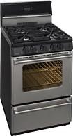 "Premier - Pro Series 24"" Freestanding Gas Range - Stainless-Steel"