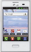 NET10 - LG Optimus Dynamic No-Contract Cell Phone - White