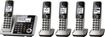 Panasonic - KX-TGF375S Link2Cell DECT 6.0 Expandable Cordless Phone System - Silver