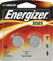 Energizer - 2025 3-Volt Lithium Battery (2-Pack) - Silver