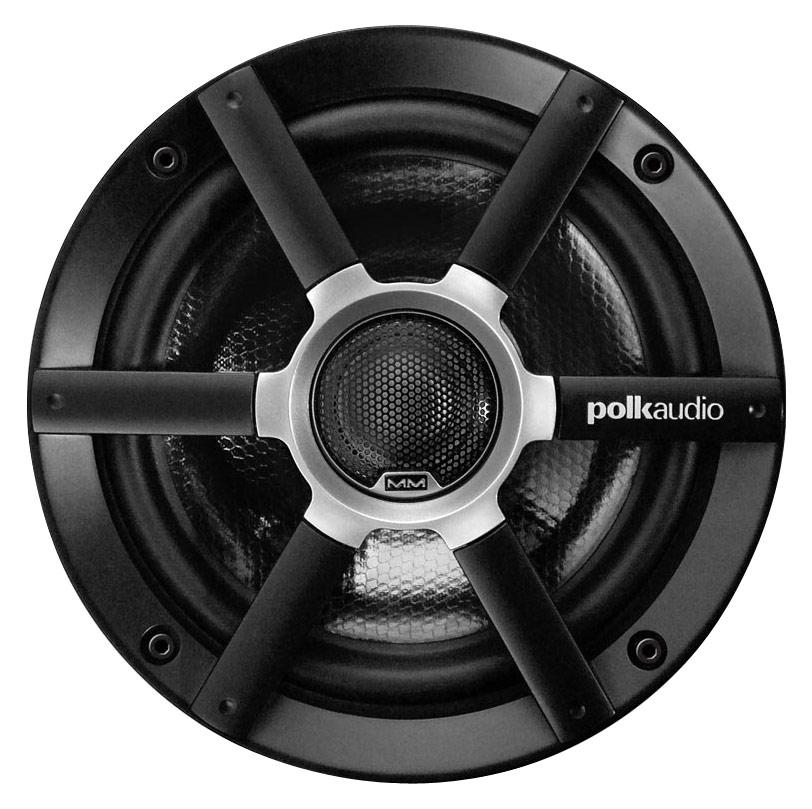 """Polk Audio - MM Series 6-1/2"""" 2-Way Coaxial Car/Marine Loudspeakers (Pair) - Black"""