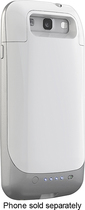 mophie - juice pack Charging Case for Samsung Galaxy S III Cell Phones - White