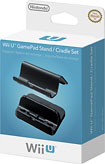 Nintendo - Stand and Cradle Set for Nintendo Wii U GamePad - Black