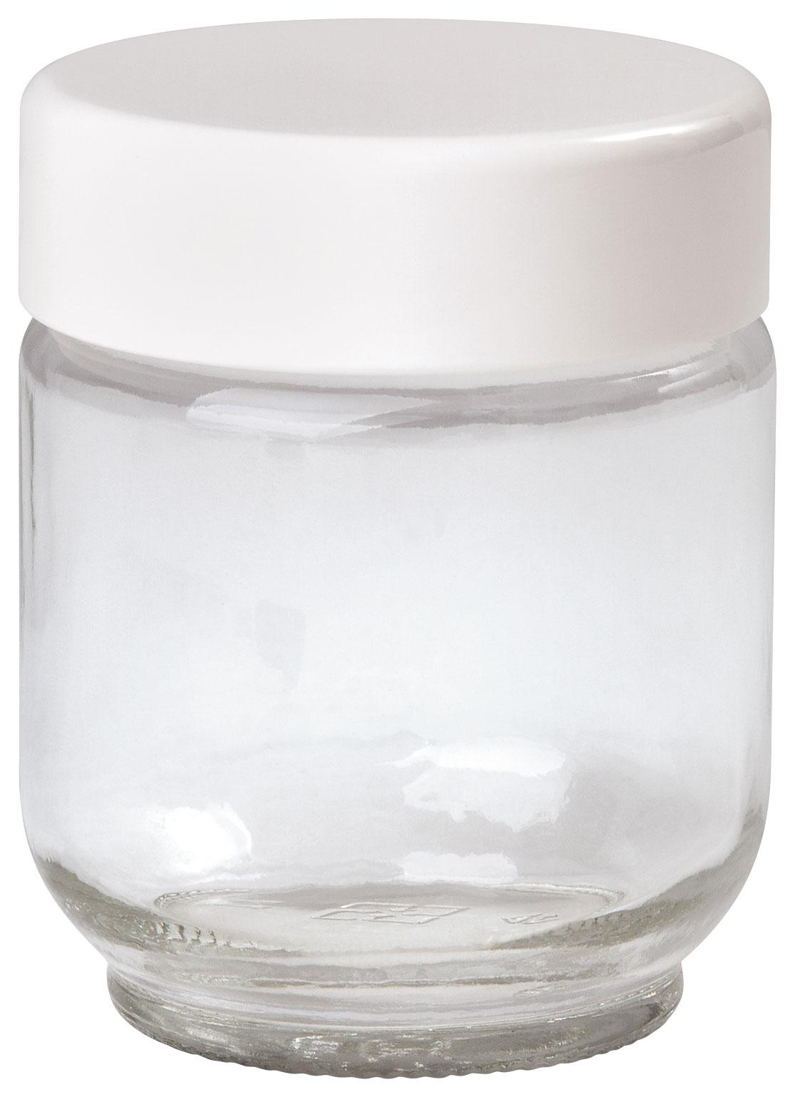 Euro Cuisine - 6-Oz. Glass Jars for Euro Cuisine YM80 and YM100 Yogurt Makers (8-Pack) - White