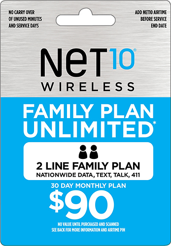 NET10 - $90 Family Plan Top-Up Card