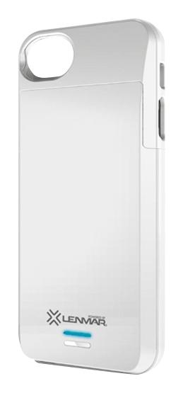 Lenmar - Meridian External Battery Case for Apple® iPhone® 5 - White