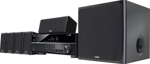 Yamaha - 650W 5.1-Channel 3D Home Theater System - Black