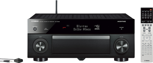 Yamaha - Aventage 770W 7.2-Ch. Network-Ready 4K Ultra HD and 3D Pass-Through A/V Home Theater Receiver - Black