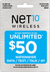 NET10 - $50 Top-Up Prepaid Card