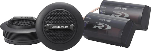 Alpine - Type-R 1 Silk-Ring-Dome Tweeters (Pair) - Black