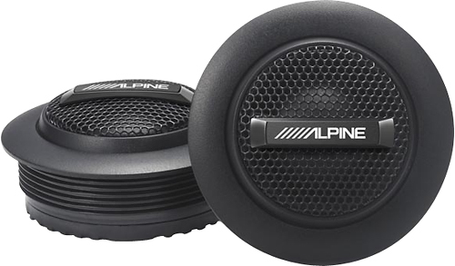 Alpine - Type-S 1 Silk-Dome Tweeters (Pair) - Black