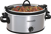 Crock-Pot - 4-Quart Oval Slow Cooker - Stainless-Steel