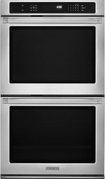 """KitchenAid - 30"""" Built-In Double Electric Convection Wall Oven - Pro Style Stainless"""