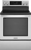 """KitchenAid - 30"""" Self-Cleaning Freestanding Electric Convection Range - Stainless-steel"""