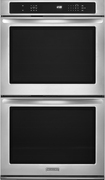 "Kitchenaid - 30"" Built-in Double Electric Convection Wall Oven - Stainless-steel 6897699"