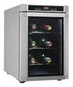 Danby - Maitre'D 6-Bottle Wine Cooler - Silver