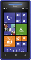 HTC - Windows Phone 8X 4G with 8GB Cell Phone - California Blue (AT&T)