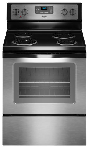 Whirlpool - 4.8 Cu. Ft. Self-Cleaning Freestanding Electric Range - Stainless Steel