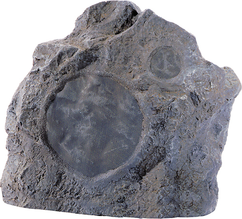 Niles - 6-1/2 2-Way Outdoor Rock Speaker (Each) - Granite Gray