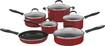 Cuisinart - Advantage 11-Piece Nonstick Cookware Set - Red