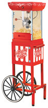 Nostalgia Electrics - Vintage Collection Old-Fashioned Movie Time Popcorn Cart - Red