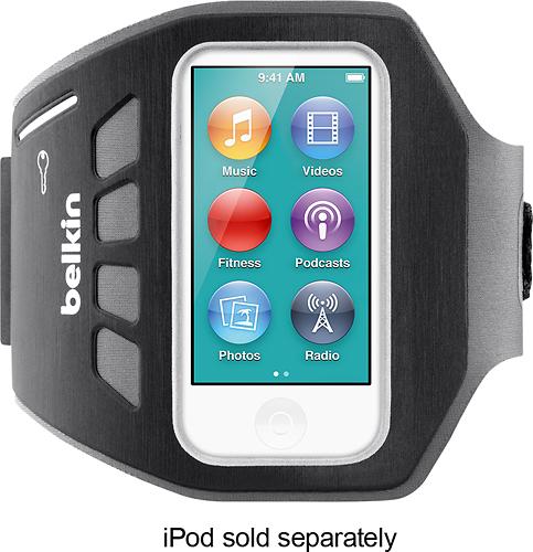 Belkin - EaseFit Plus Armband for 7th-Generation Apple® iPod® nano - Blacktop