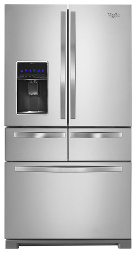 Whirlpool - 25.8 Cu. Ft. French Door Refrigerator - Monochromatic Stainless Steel