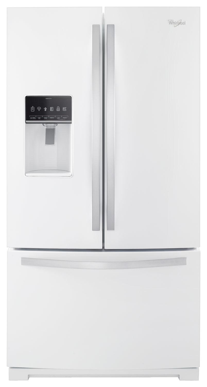 Whirlpool - 26.8 Cu. Ft. French Door Refrigerator - White Ice
