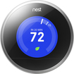 Nest - Learning Thermostat - 2nd Generation - Stainless-Steel