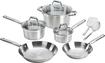 T-Fal - Elegance 10-Piece Cookware Set - Stainless-Steel